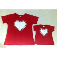 Blusas visco vermelha coração off