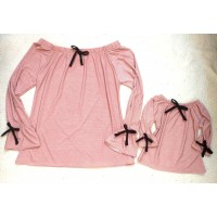 Blusa rose poá