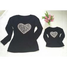 kit blusinha coração ML onça