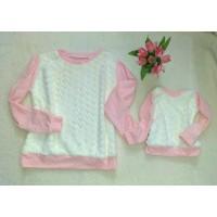 Blusa rosa pele coração
