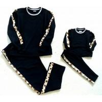 Conjunto calça e blusa moletom onça lateral