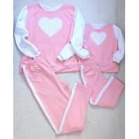 Conjunto rosa calça e blusa coração Mctt