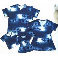 Kit família blusas coq azul br