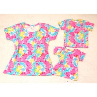 Kit blusas família tie dye