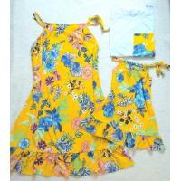 kit família mf amarelo floral