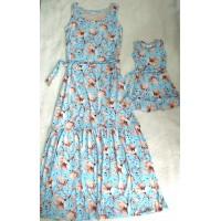 kit vestido mãe longo mf az clr