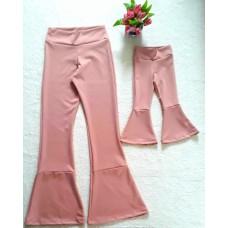 kit calça flare rosê montaria