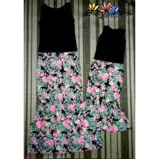kit saia longa floral COM blusas