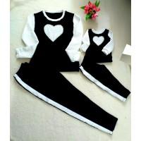 Conjunto calça e blusa coração Mctt