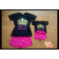 Conjunto shortinho pk com blusa princesa