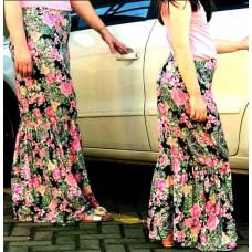 kit saia longa floral