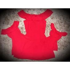 kit vestido ciganinha vermelho mãe e filhas