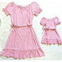 Kit vestido poá rose mc