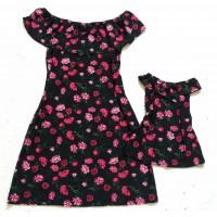 Kit vestido pt flor cig