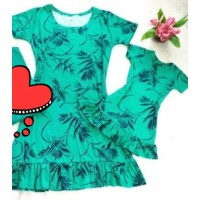 Kit vestidos verd trad