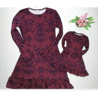Kit vestido marsala ML