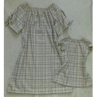Kit vestido linho lurex