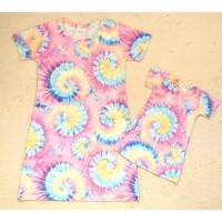 Kit vestido tie dye NV