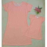 kit vestido canelado poá rose