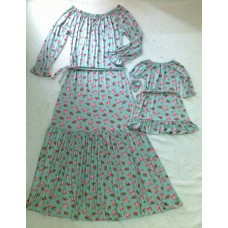 kit vestido mãe longo floral ve