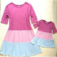 kit vestido tricolor