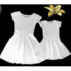 kit vestido branco evasê
