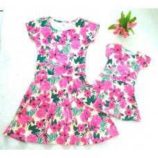 kit vestido floral AM evasê