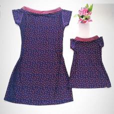 kit vestido azul pimentinha