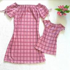 kit vestido crepe rosê xdz