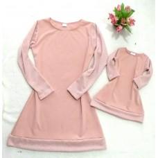 kit vestido rosê chenilly